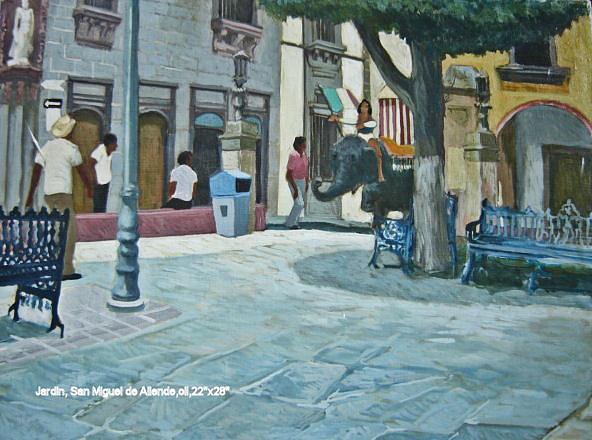 Cityscape Painting - San Miguel De Allende by Jim Innes