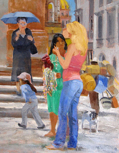 Mexico Painting - San Miguel De Allende by Neal Smith-Willow