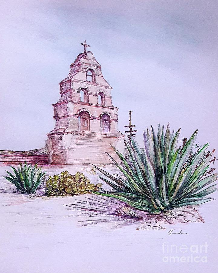 San Miguel Mission, Bell tower by Danuta Bennett