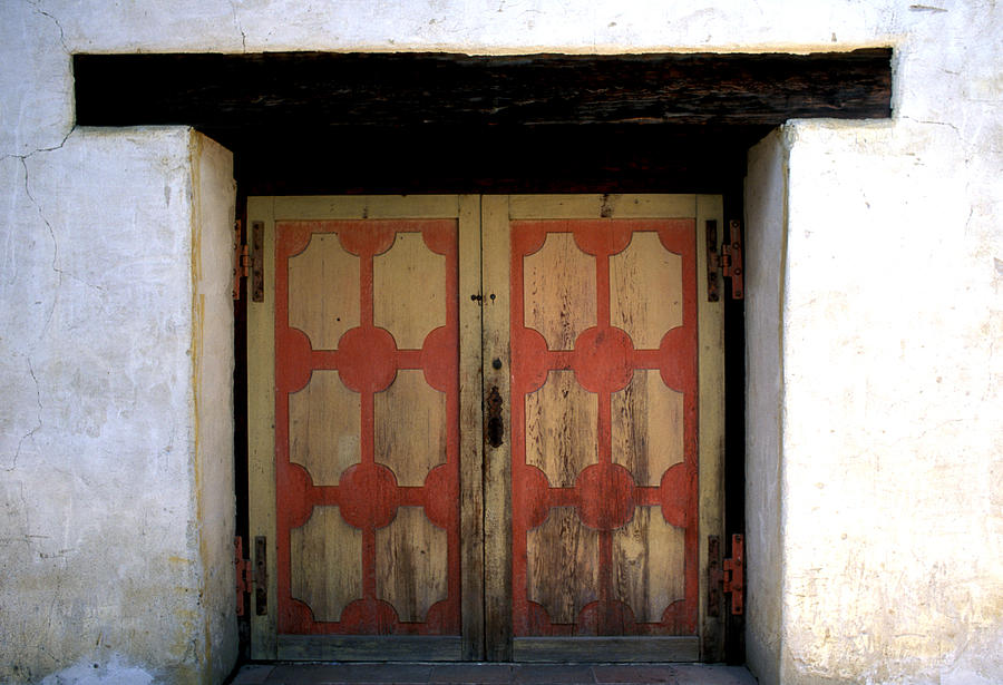 Missions Photograph - San Miguel Mission Door by Kathy Yates & San Miguel Mission Door Photograph by Kathy Yates