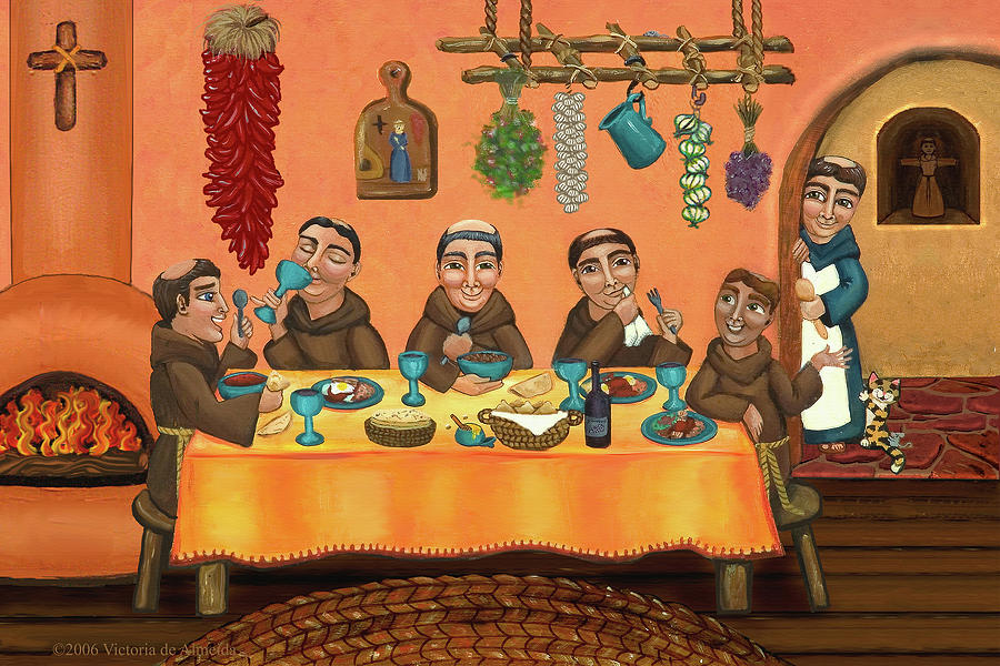 San Pascual Painting - San Pascuals Table 2 by Victoria De Almeida