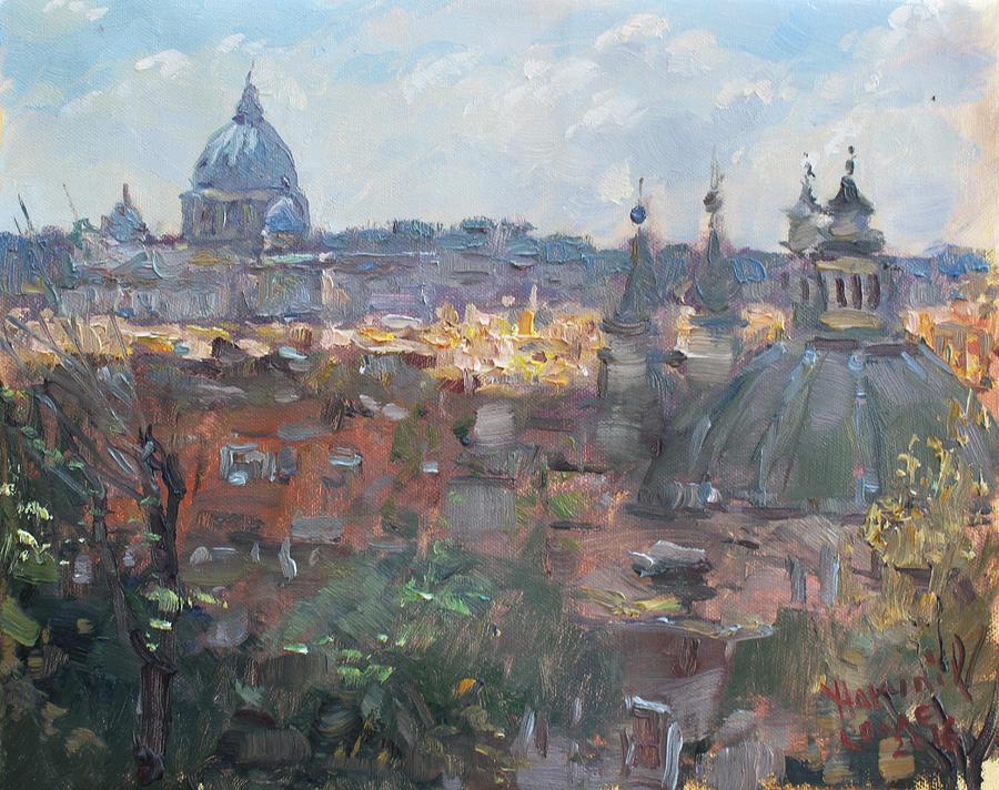 San Pietro Painting - San Pietro Da Pincio by Ylli Haruni