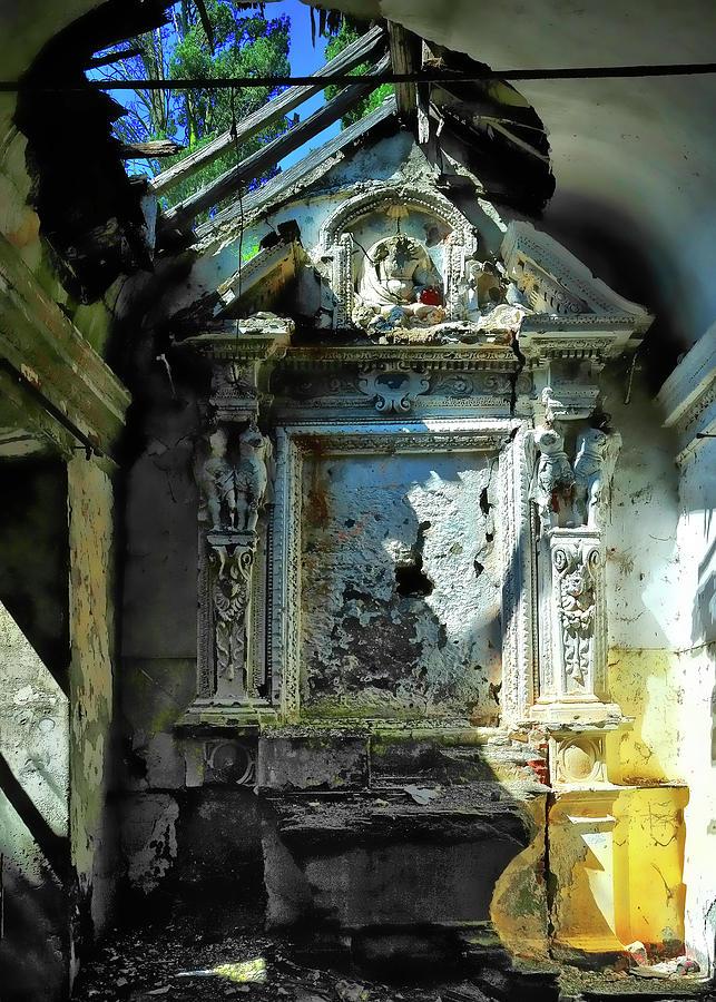 Cappella Photograph - San Rocco Chapel Ruins - Cappella San Rocco Rovine by Enrico Pelos