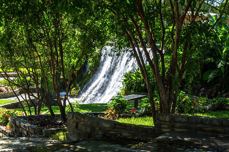 Waterfall Photograph - San Saba Waterfall by Bob Marquis