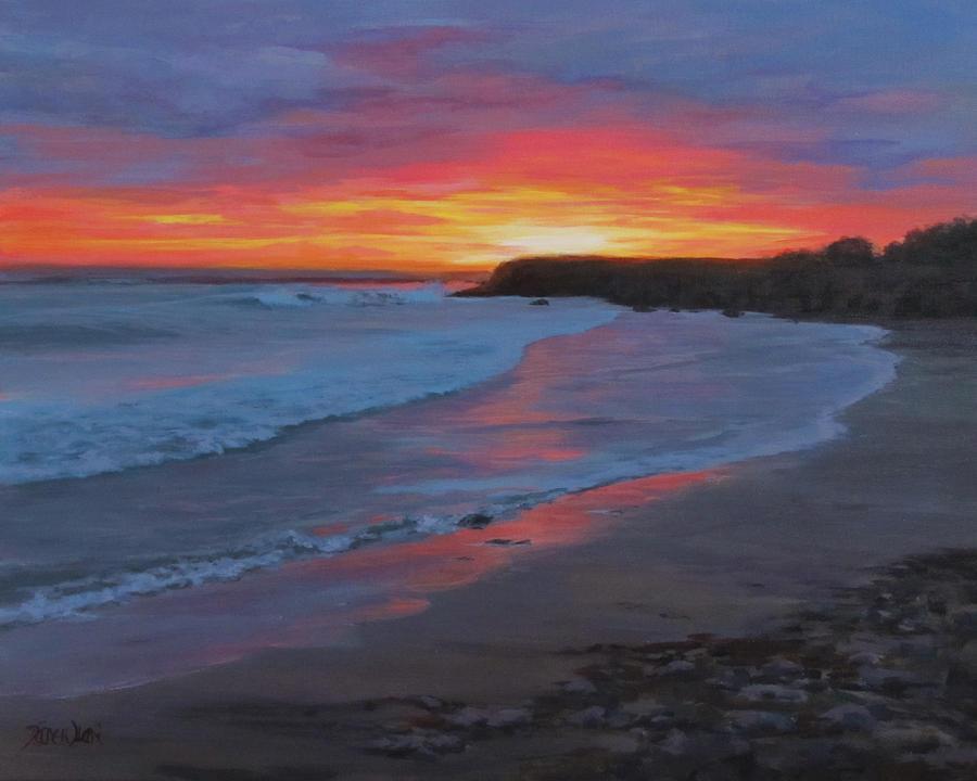 Ocean Painting - San Simeon by Karen Ilari