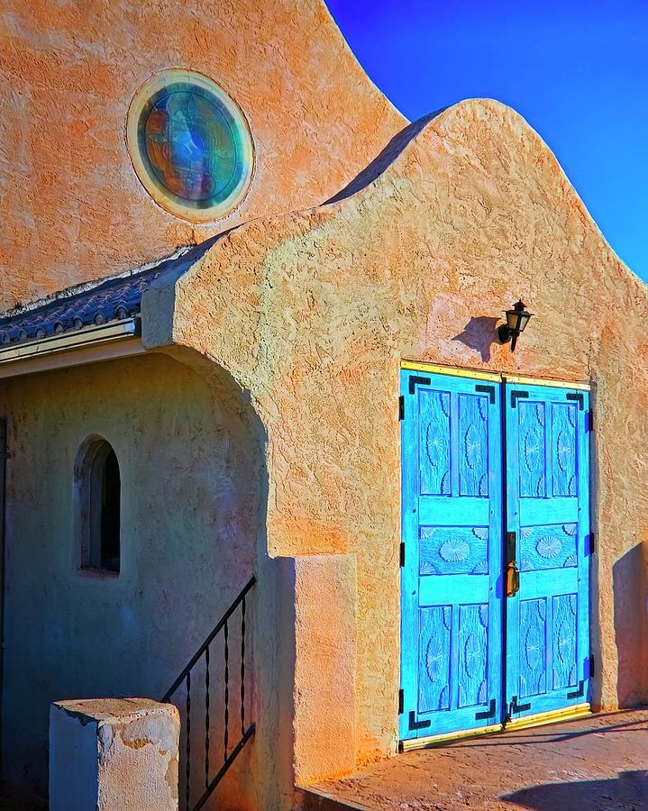 Church Photograph - San Ysidro Catholic Church, San Yisidro, New Mexico by Zayne Diamond Photographic