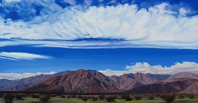 San Ysidro Mountains Painting by Mary-Austin Klein