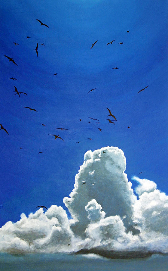 Birds Painting - Sanctuary by Fiona Jack