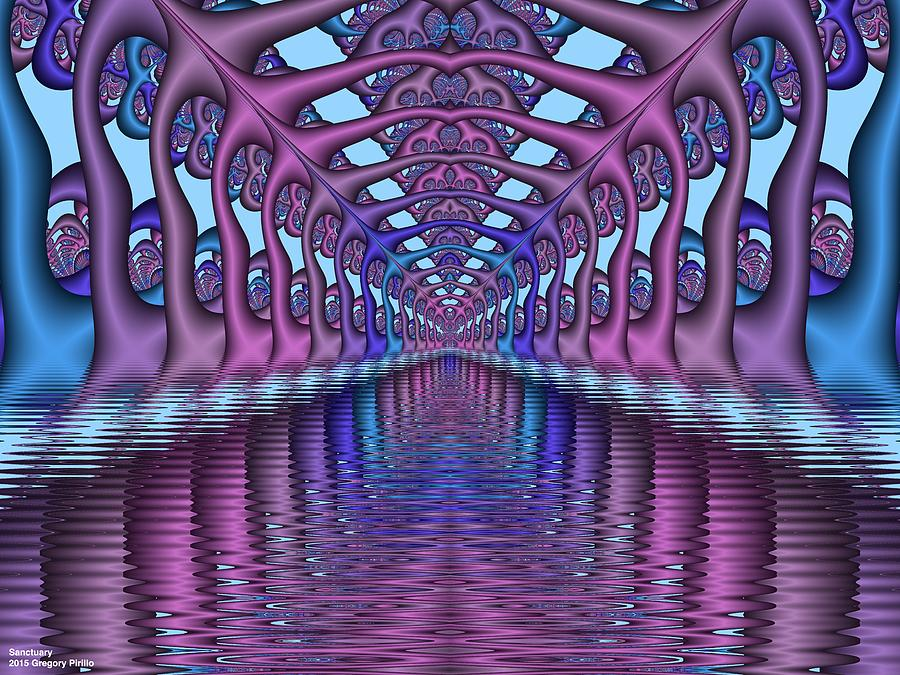 Fractals Photograph - Sanctuary by Gregory Pirillo