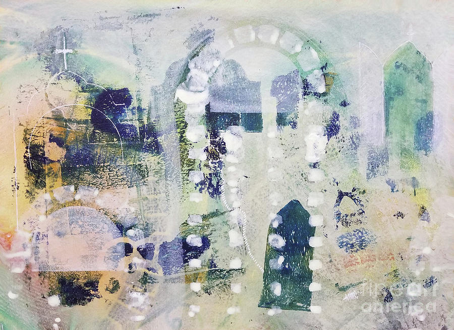 Abstract Painting - Sanctuary by Maura Satchell