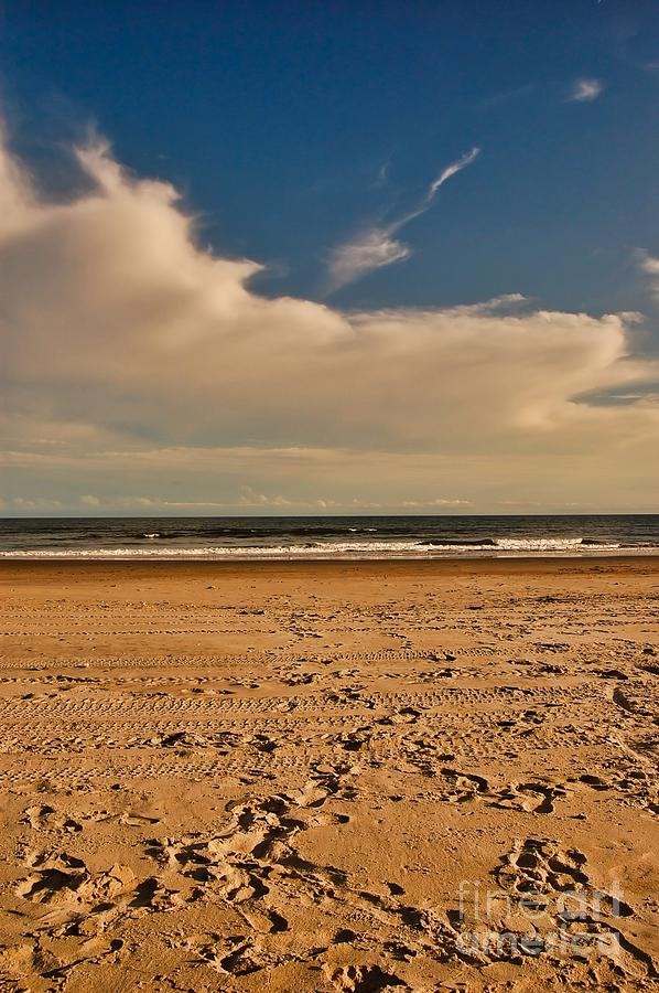 Ocean Photograph - Sand And Clouds by Scott Diffee