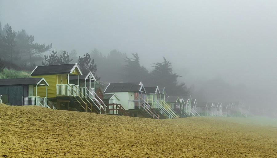 Wells Photograph - Sand And Huts And Fog by Nick Bywater