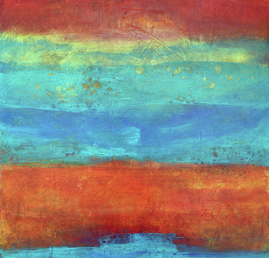 Coastal Painting - Sand And Sea I by Filomena Booth
