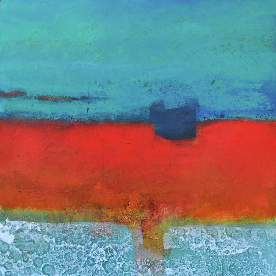 Abstract Painting - Sand And Sea IIi by Filomena Booth