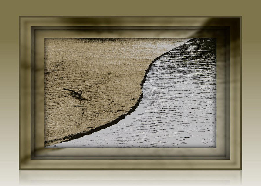 Sand Photograph - Sand And Water by Dottie Dees