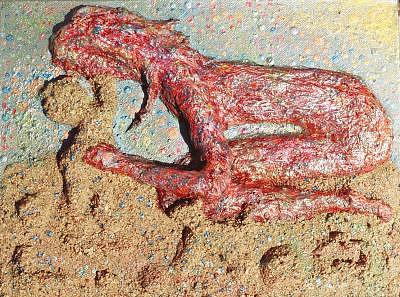 Sand Baby Painting by Naomi Gerrard