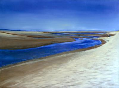 Charleston South Carolina Painting - Sand Bar And Beach -charleston-south Carolina by Jeanie Chadwick