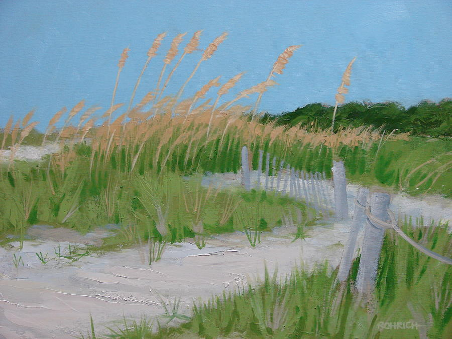 Sea Oats Painting - SAND DUNES No. 3 by Robert Rohrich