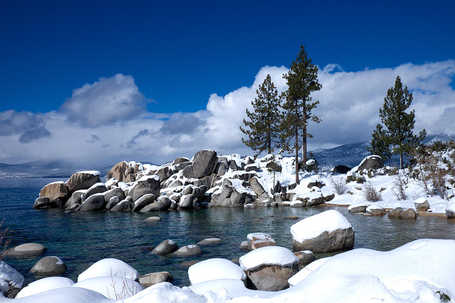 Sand Harbor in Winter by Vinnie Oakes