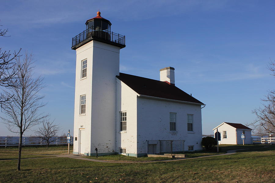 Sand Point lighthouse in Escanaba by Charles and Melisa Morrison