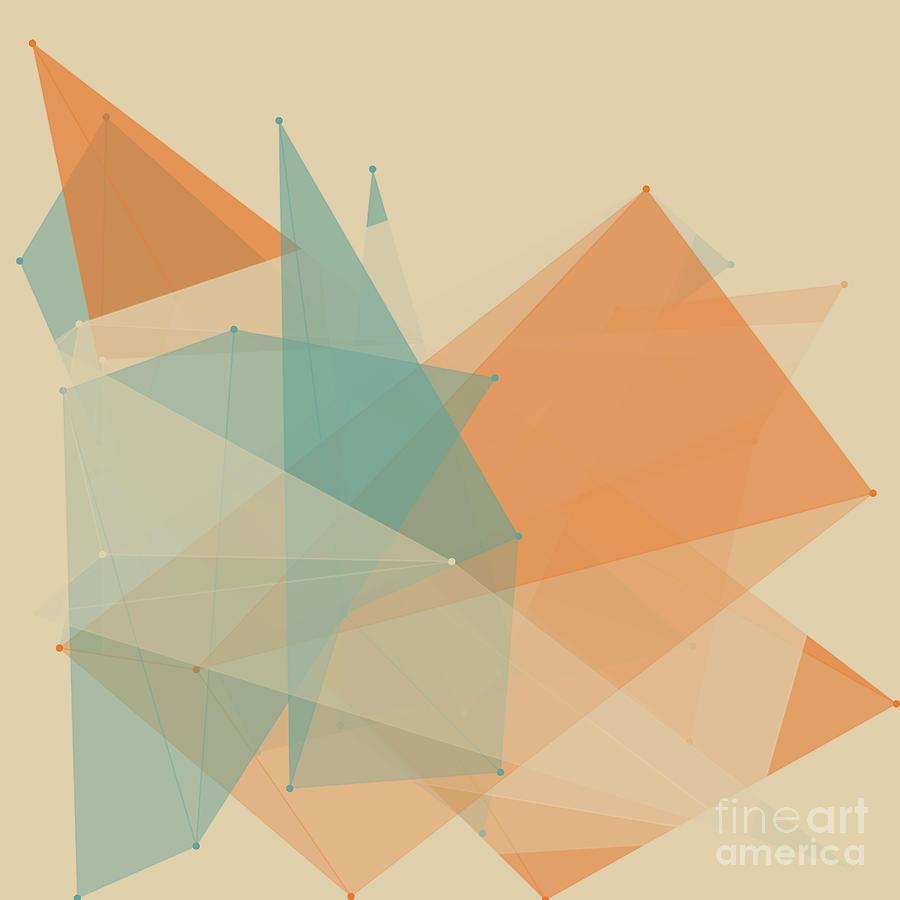 Abstract Digital Art - Sand Polygon Pattern by Frank Ramspott