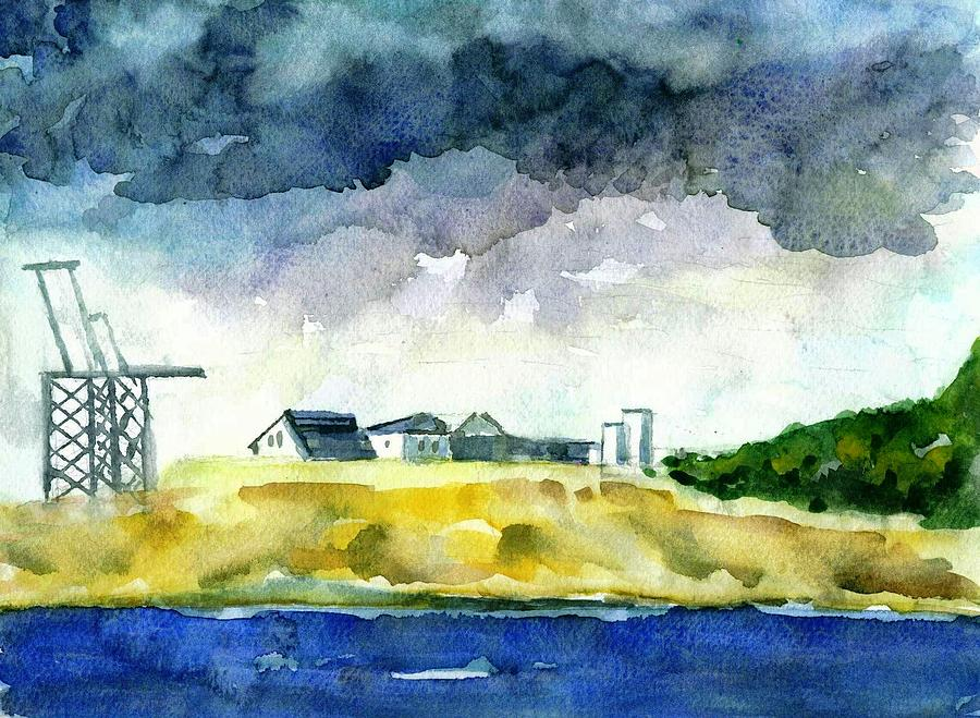Landscape Painting - Sand Quarry by Ujjagar Singh Wassan