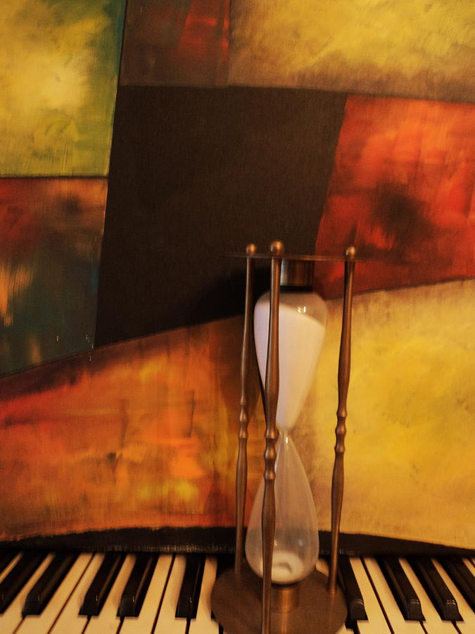 Hour Glass Painting - Sand Through The Hourglass by Anne-Elizabeth Whiteway