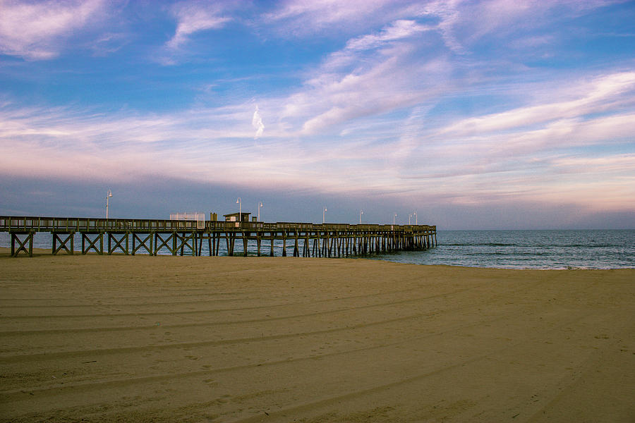 sandbridge fishing pier photograph by shannon louder