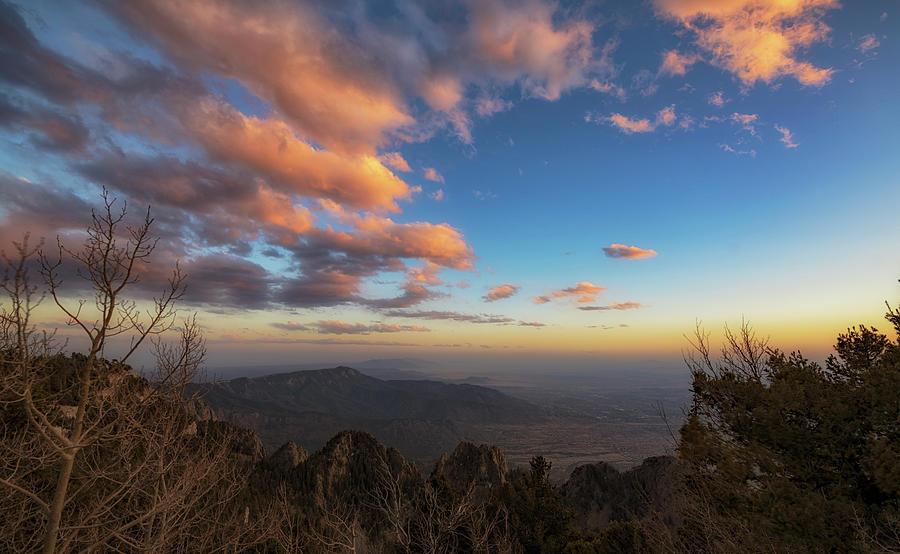 Sunset Photograph - Sandia Peak by Marybeth Kiczenski