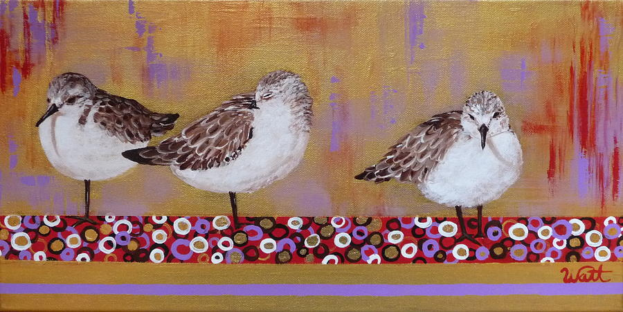Sandpipers Painting - Sandpipers On The Emerald Coast by Tammy Watt