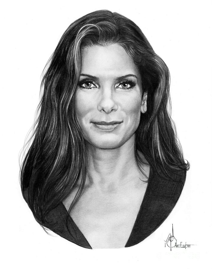 Sandra Bullock drawing by Murphy Elliott