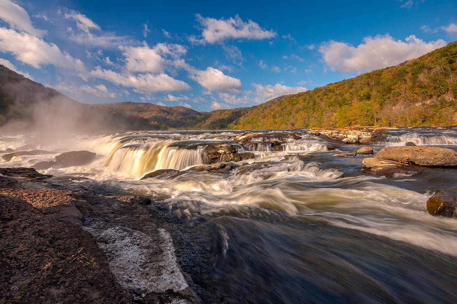 Sandstone Falls New River Gorge by Rick Dunnuck
