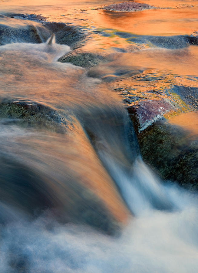 Waterfall Photograph - Sandstone Reflections by Mike  Dawson