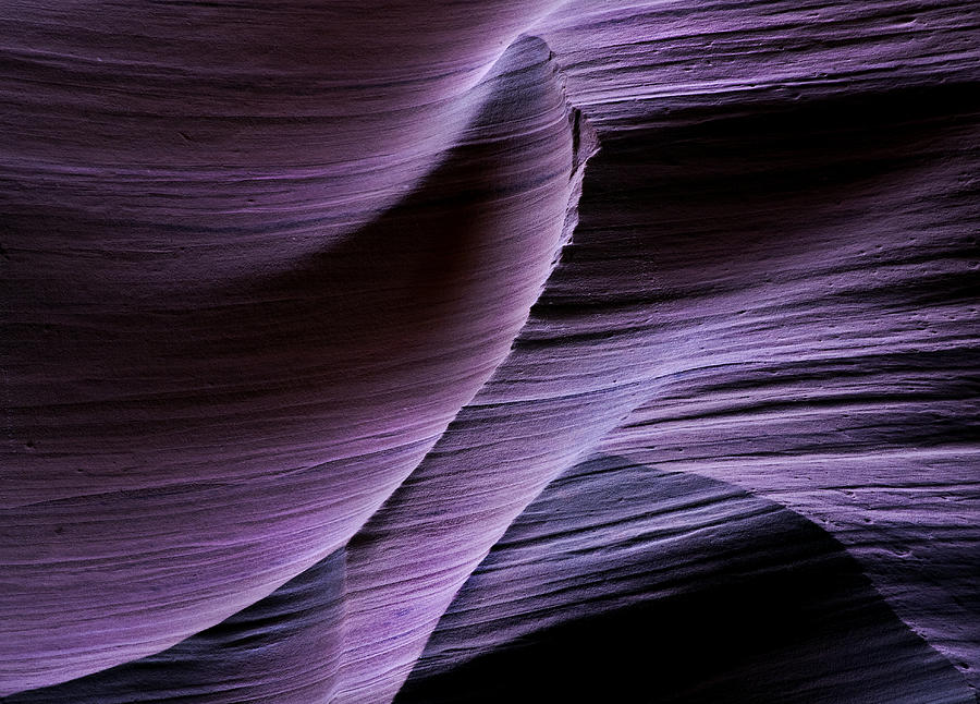 Slot Photograph - Sandstone Symphony by Mike  Dawson