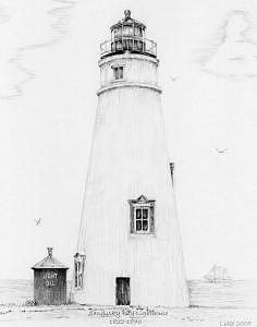 Lighthouse Drawing - Sandusky Bay Lighthouse by Luke Lauch