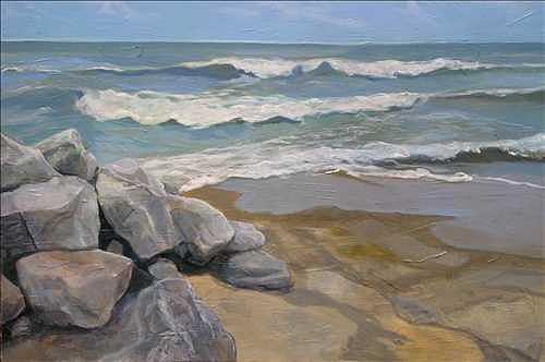 Sandusky Shallow Painting by Denise Ivey Telep