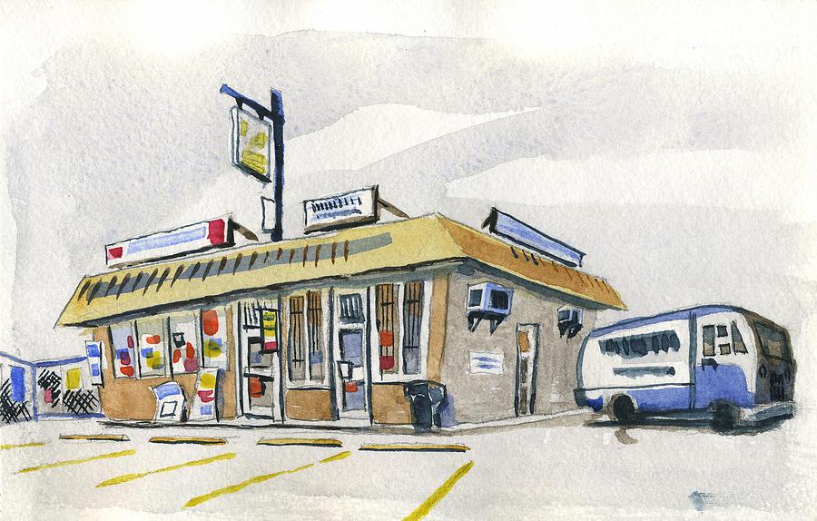 Urban Painting - Sandwich Shop by Ashley Lathe