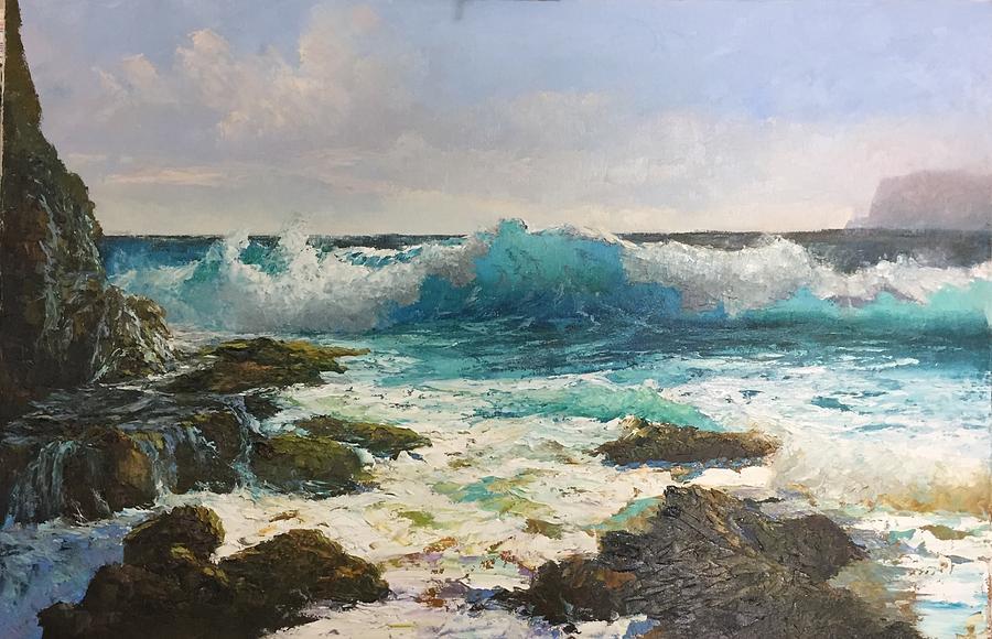 sandy beach painting by ed furuike