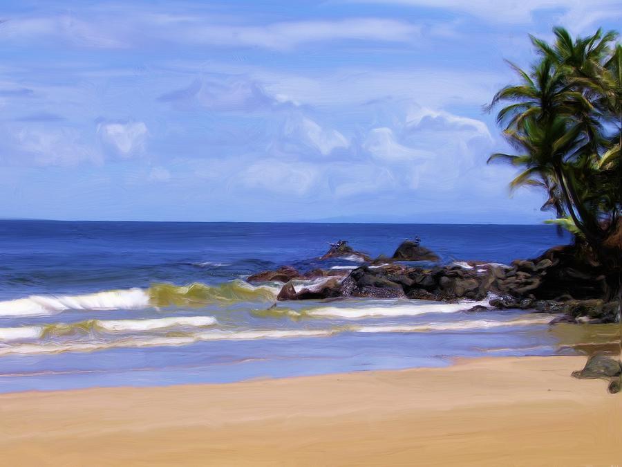 sandy beach painting by ryan mcintyre
