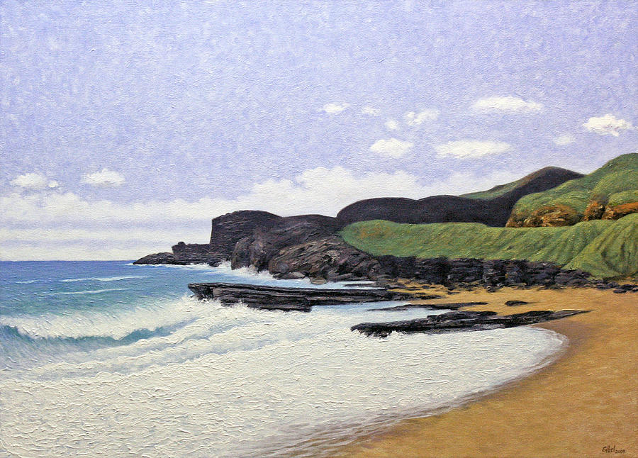 Beach Painting - Sandy Beach Oahu by Norman Engel