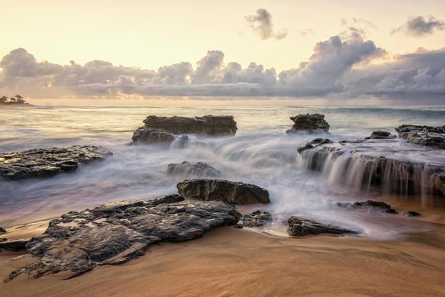 Sunrises Photograph - Sandy Beach Sunrise 3 - Oahu Hawaii by Brian Harig