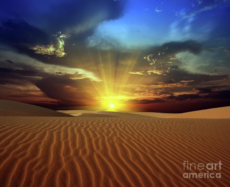 Dunes Photograph - Sandy Desert by MotHaiBaPhoto Prints