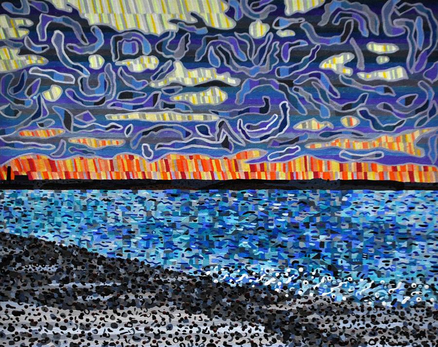 Seascape Painting - Sandy Neck Beach by Micah Mullen