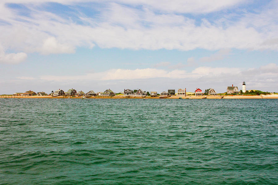 Sandy Neck Photograph - Sandy Neck Lighthouse And Cottages, Barnstable, Massachusetts, U.s.a. by Ben Hughes