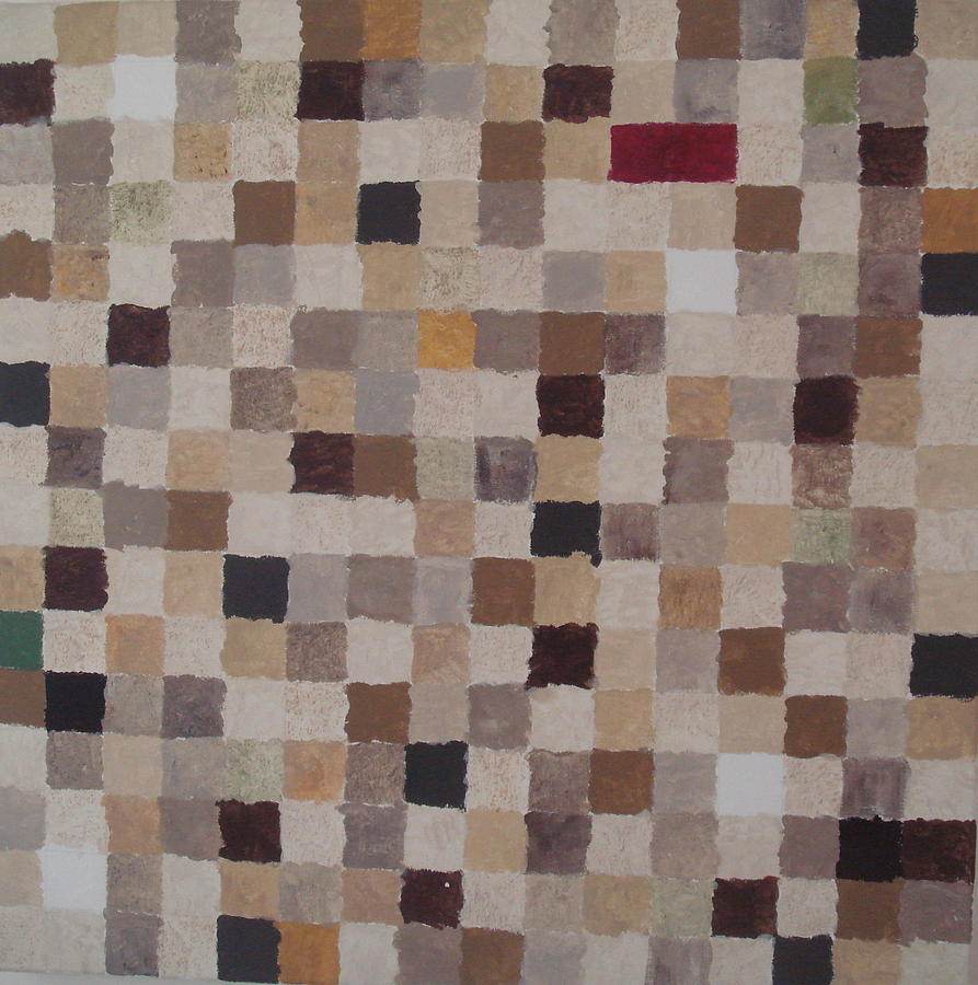Sandy Squares Painting by Wendy Peat