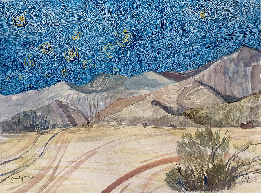 Mountains Painting - Sandy Track by Vaughan Davies