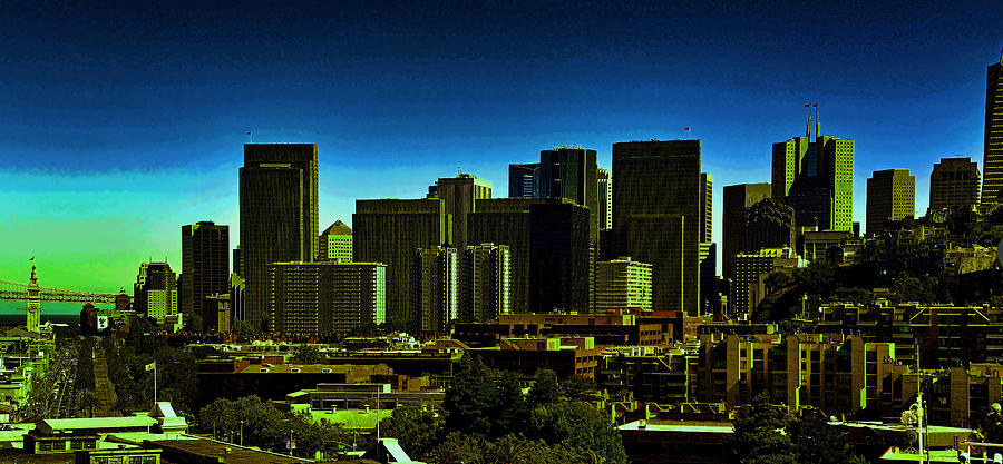 Skyline Photograph - Sanfrancisco Sky Line by Gerald Blaine