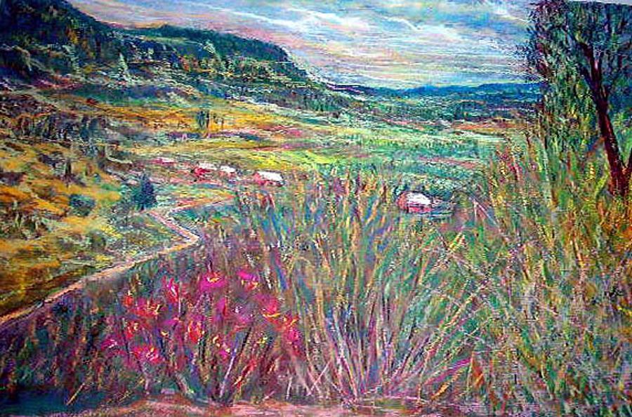 New Mexico Pastel - Sangre De Christo Mountain Mora Valley by Richalyn Marquez