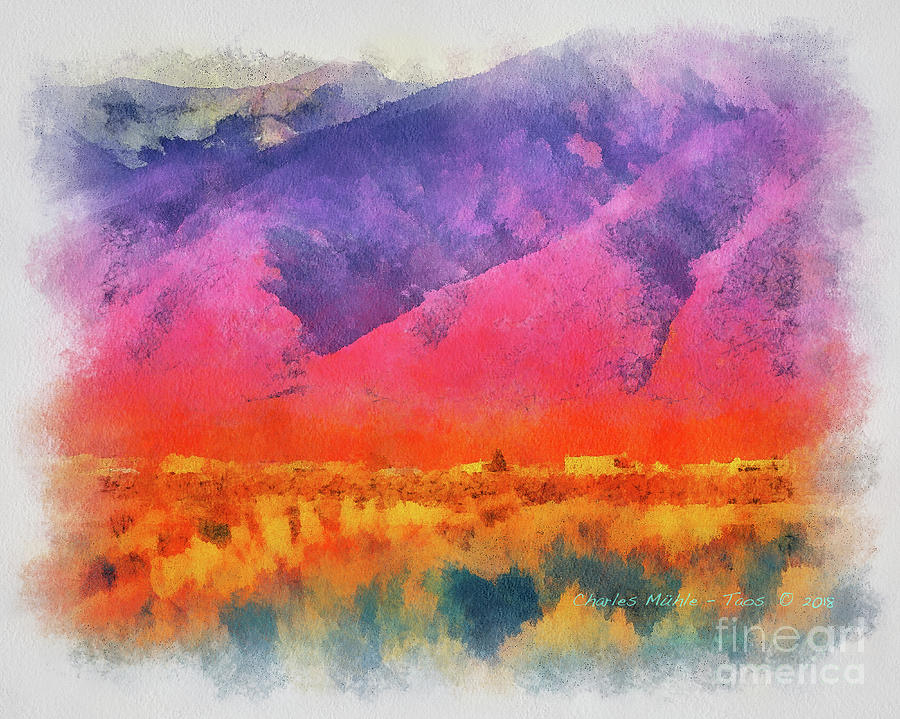 Sangre de Cristo in Aquarelle by Charles Muhle