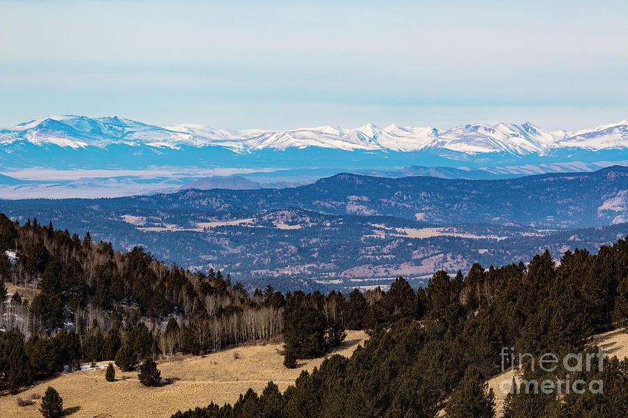 Sangre De Cristo Mountain Valley Photograph